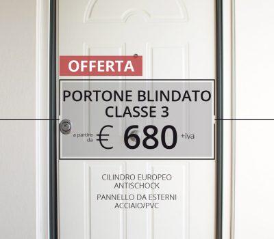 PORTA BLINDATA PER ESTERNI CON CILINDRO EUROPEO € 680,00 + IVA